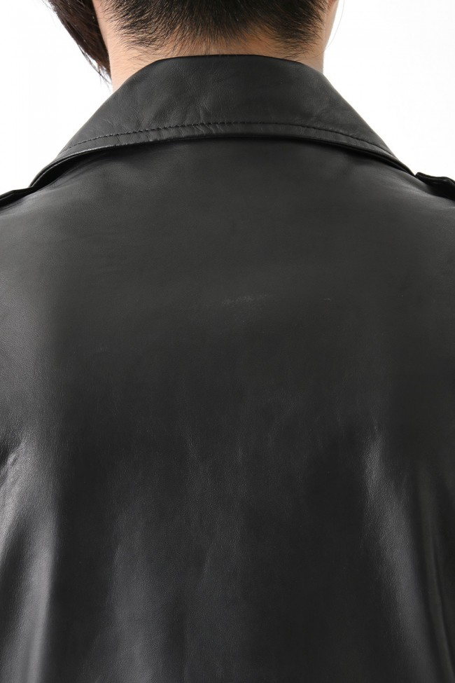 16AW LEATHER BIKER JACKET