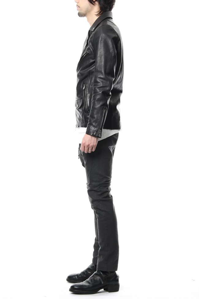 Cow Hide Leather Riders jacket RB-028 Black