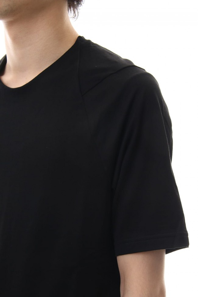 Short sleeve 2/80 Cotton jersey Regular fit - Black