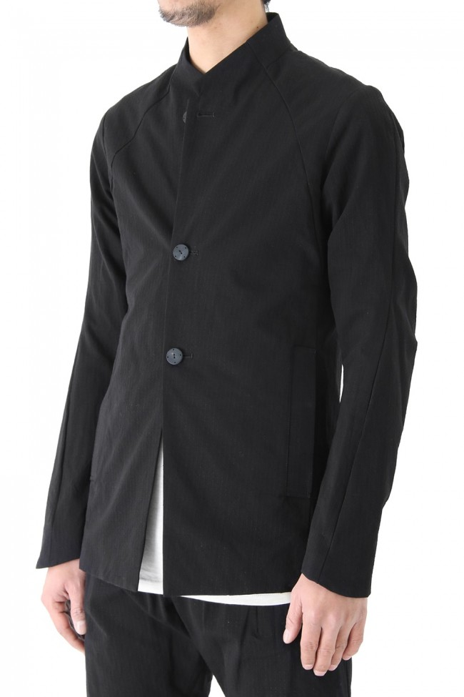 Jacket Cotton Linen Rip Stop Black