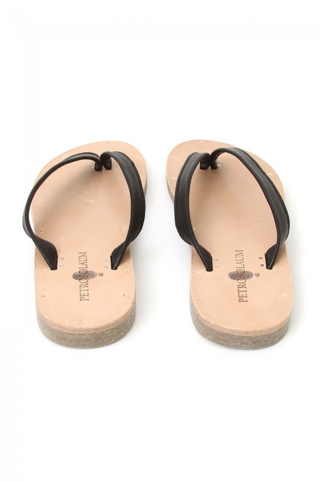 Leather Sandals Black