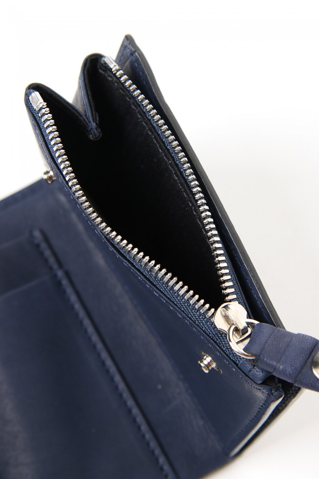 connect wallet mini - Glove Steer Leather D.Navy