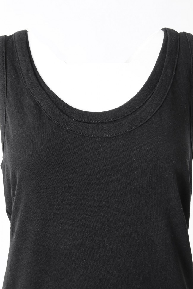 40/1 Cotton Linen Hard Twist  Yarn Jersey Tank top - DK11-CS04-T07