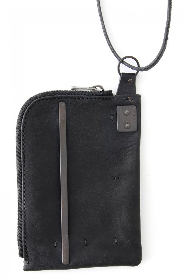 Leather Coin Case necklace Square Type