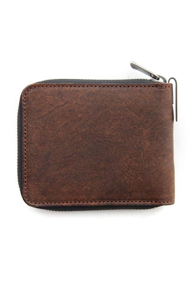 Mini Round Zip Bi-fold wallet - io-07-021