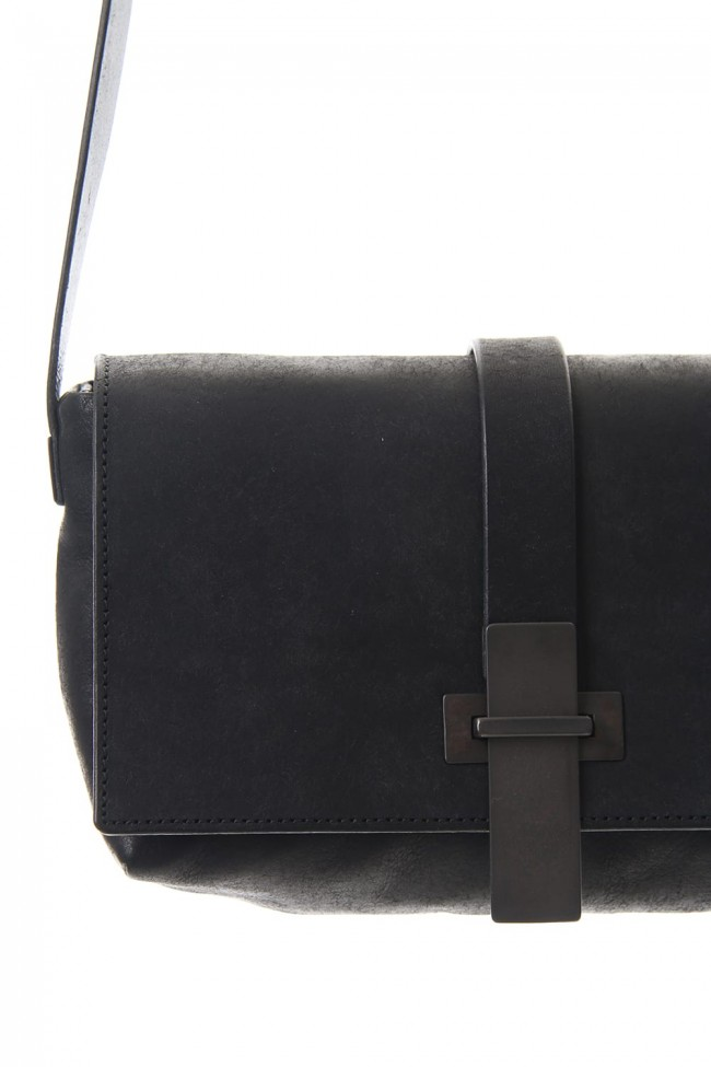 Oblong Mini Shoulder Bag - B - Black
