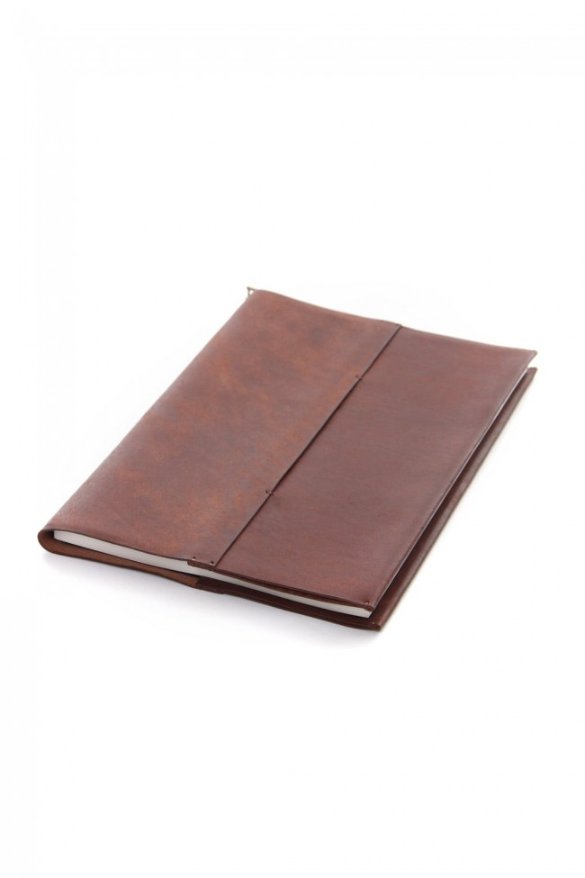 Crane Book cover with note B5 size - io-09-028 Tabacco