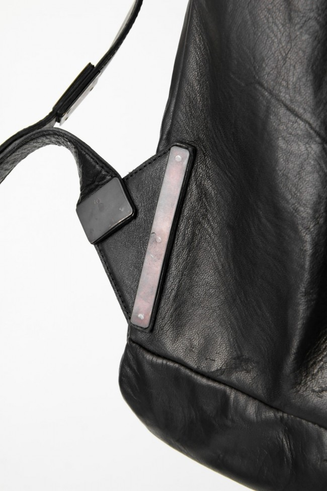 Japanese Horse Leather Square Backpack