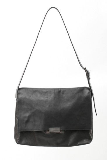 Japanese Horse Leather Box Shoulder Bag