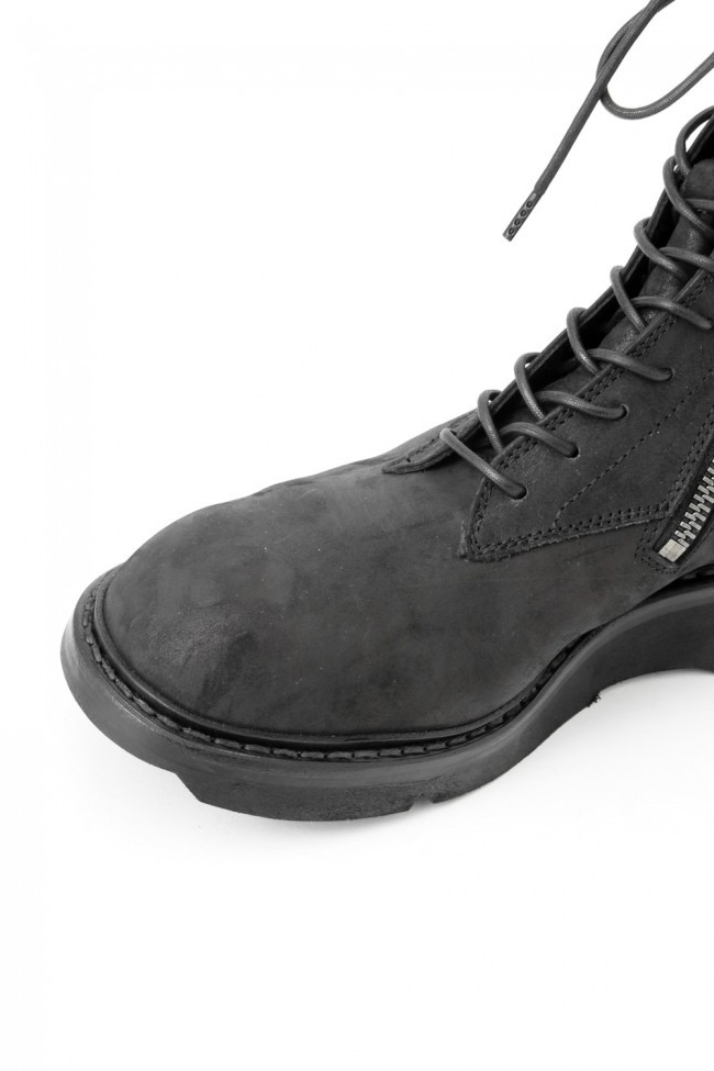 17SS Double Side Zip Military Boots NUBUCK