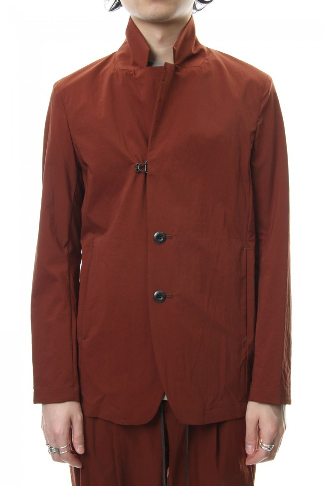 Ny Stretch Tafta 2B Jacket Brown