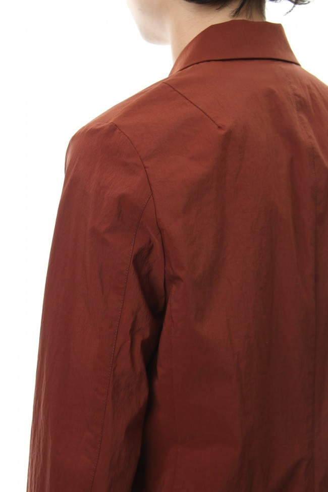 Ny Stretch Taffeta 2B Jacket Brown
