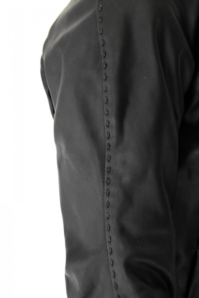 High Neck Jacket Calf Leather