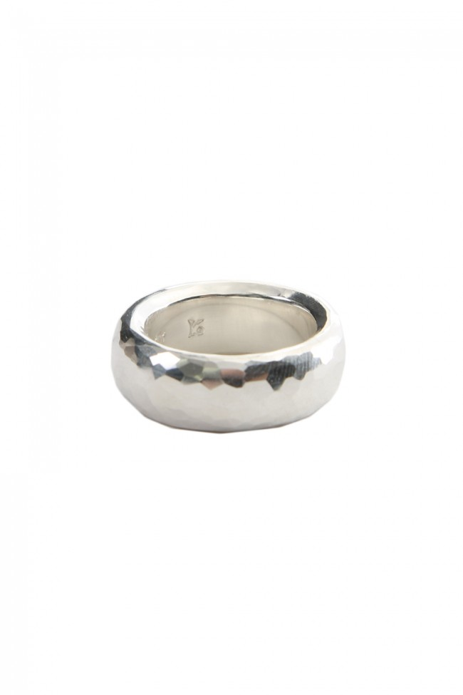 Single Ring Hammered