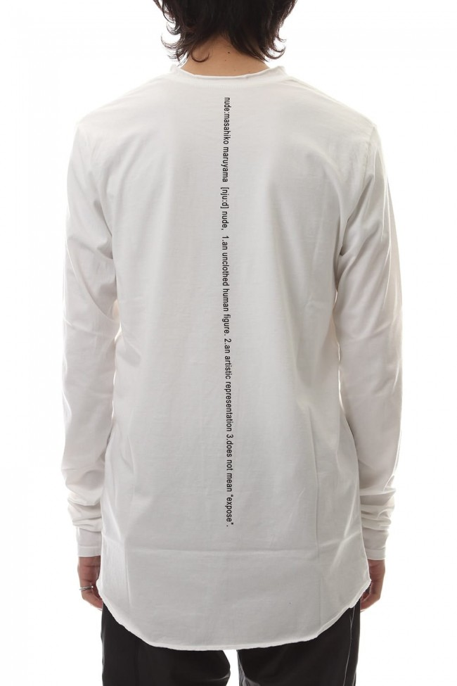 DUDE BACK PRINT L/S T-SHIIRT White