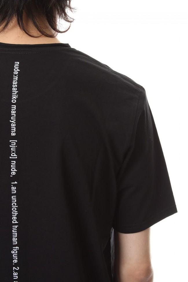 DUDE BACK PRINT S/S T-SHIIRT Black