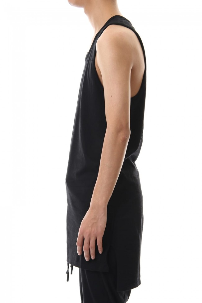 NUDE BACK PRINT TANK TOP Black