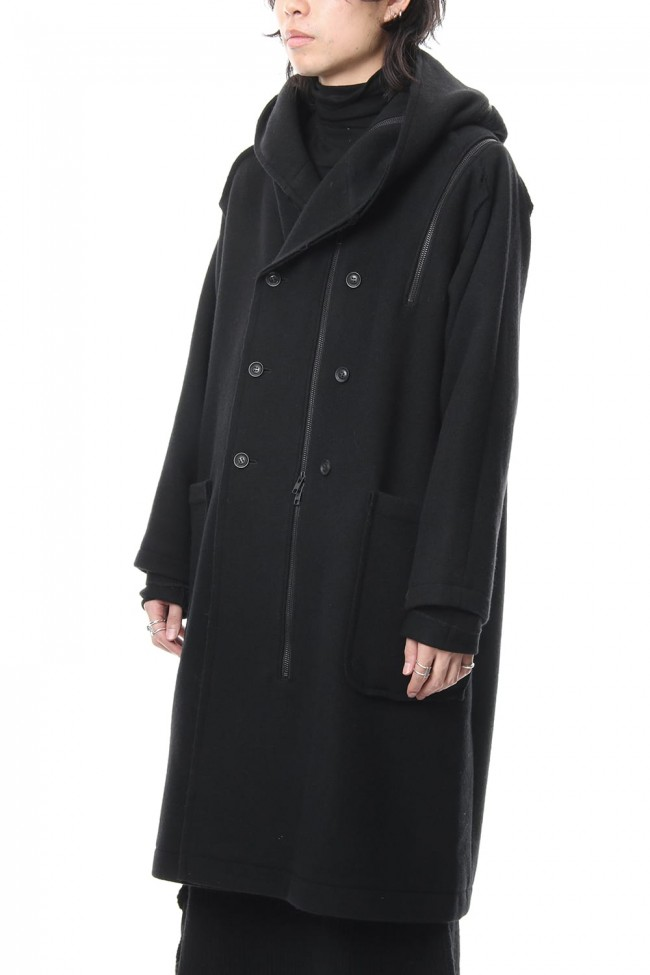 Wool Viyella Double Fastener Coat - NV-C52-105