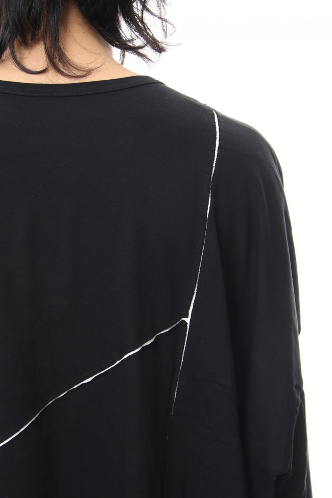 Crack print reversible Long Sleeve T-shirt - NV-T57-073