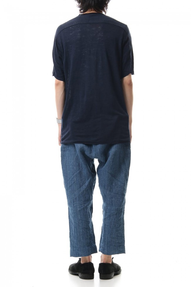Linen Cropped Pants Indigo