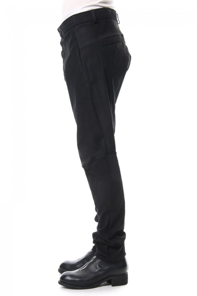 Stretch Leather Pants PISTONNE Noir