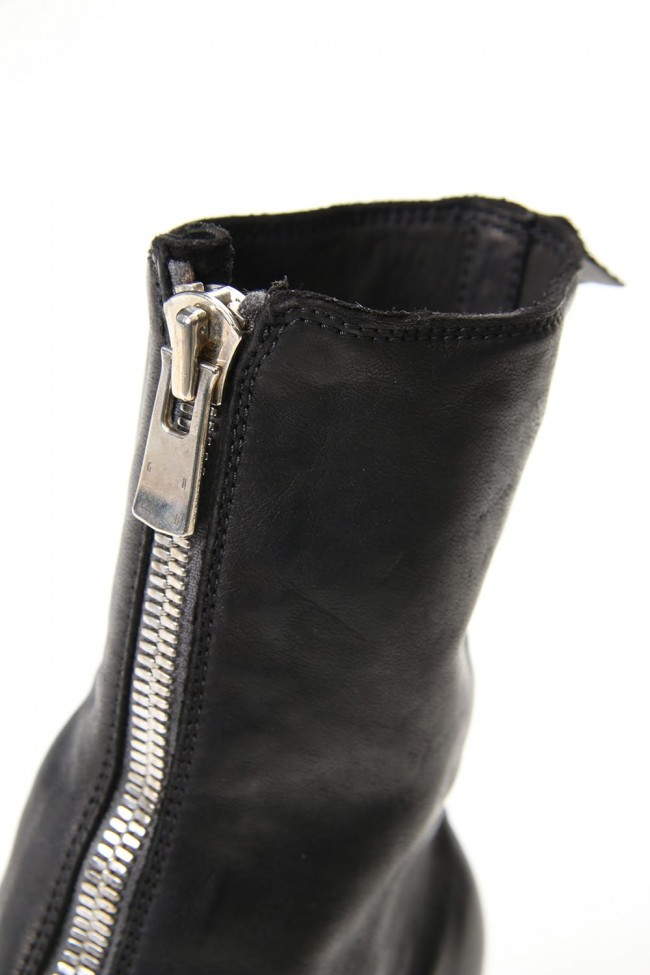 Women's Long Front Zip Boots - Horse Full Grain Leather