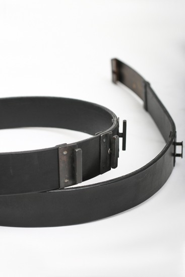 Plate Buckle Leather Belt