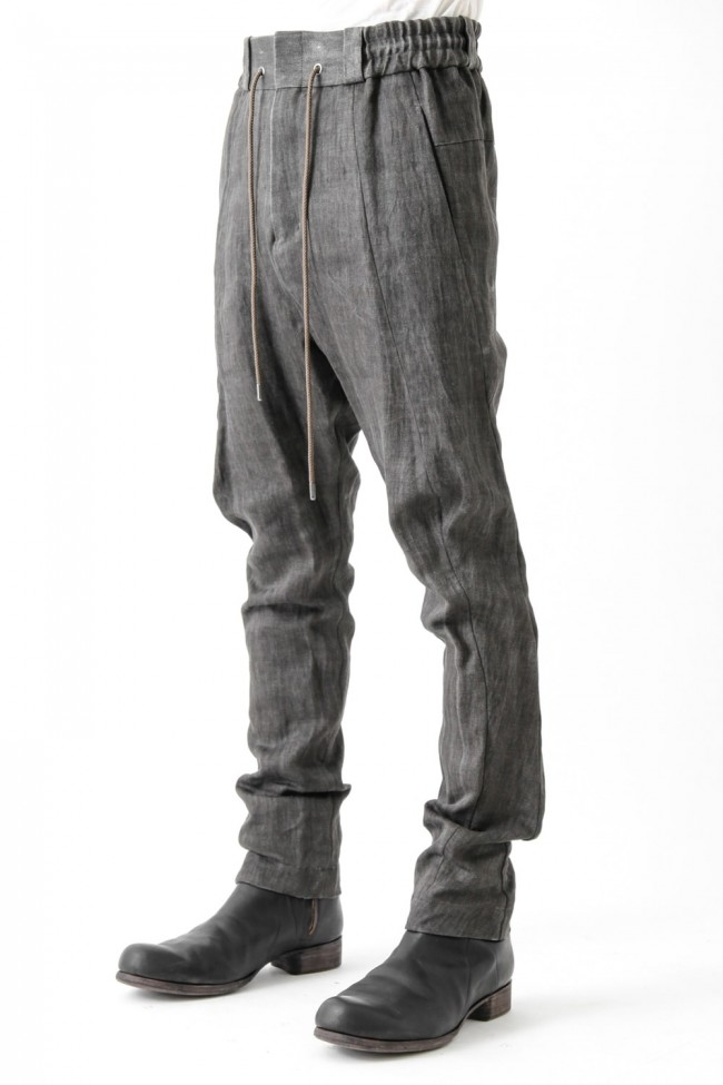 Easy Pants Linen Denim Charcoal Dyed
