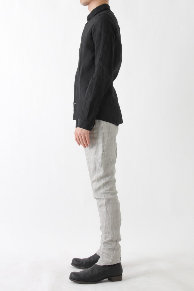 Jodhpurs Pants Linen Denim Charcoal Dyed