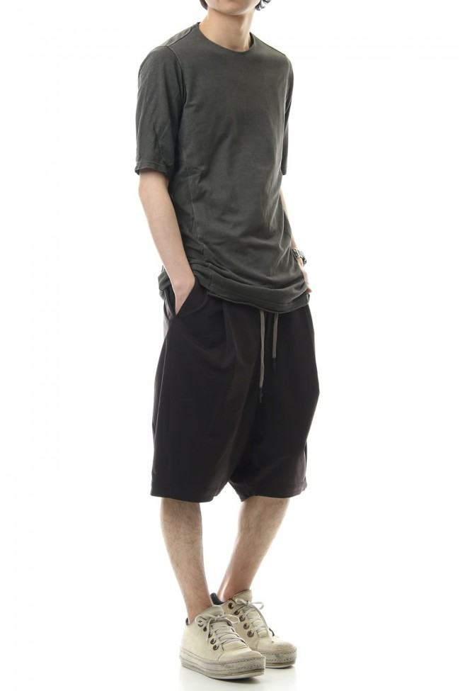 Short Pants Silk Nylon Stretch - charcoal