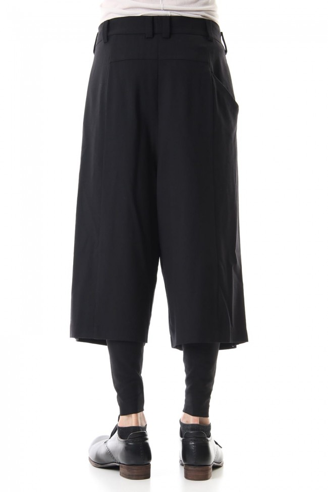 Cropped pants virgine wool 4way stretch