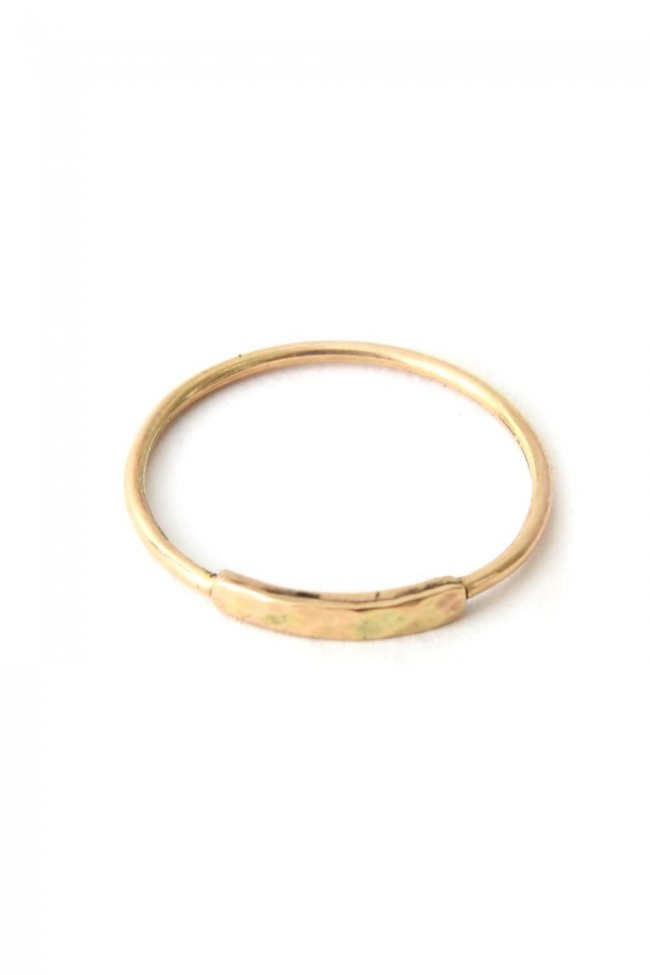 Ring 031 Long Square (Hammered) - iolom