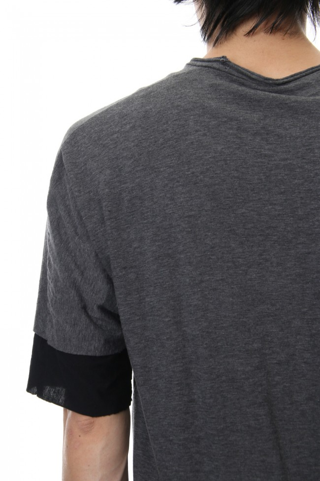 DOUBLE DOLMAN T-SHIRT Graphite
