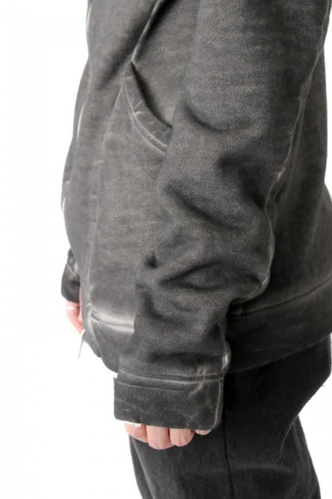 Product dyed Cold Dye Zip Up Parka