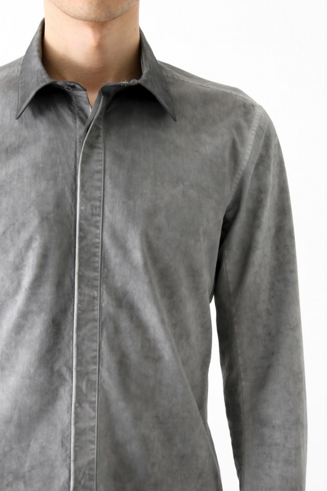 Cold Dyed Dress Shirt Gray