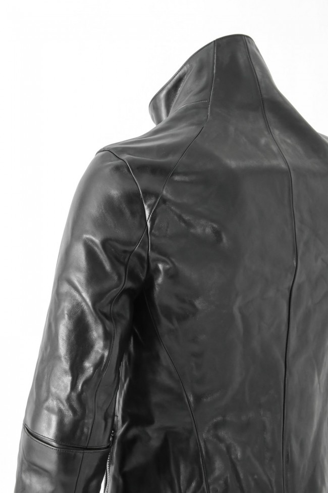Horse Leather High Neck Jacket