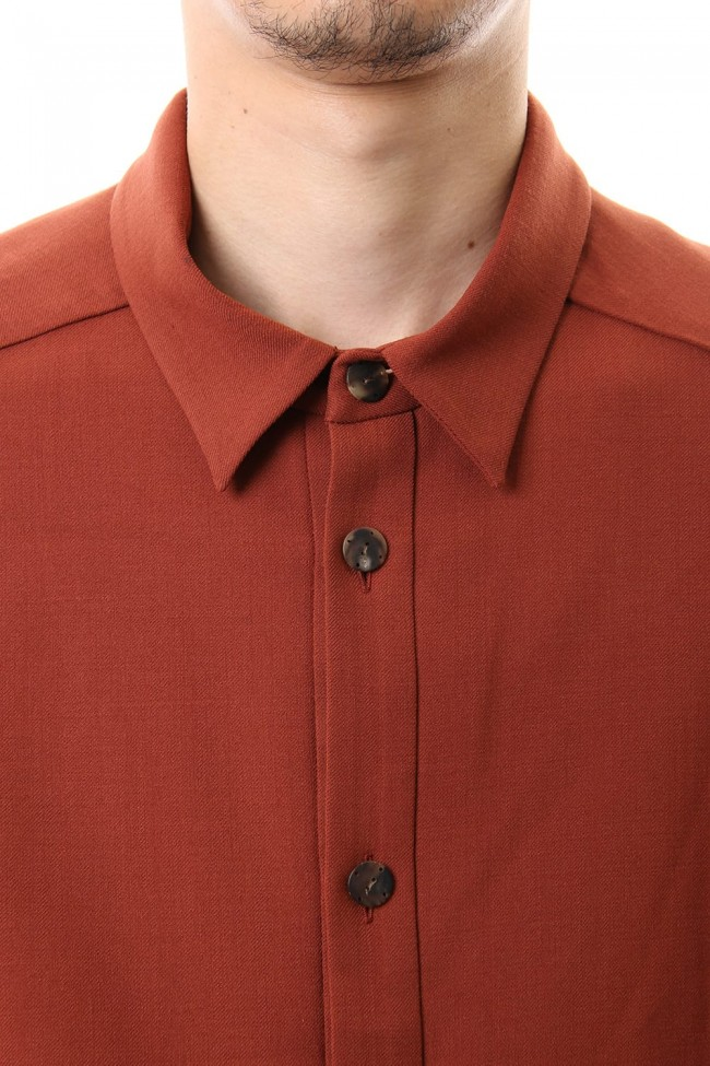Shirt virgin wool 4way stretch Red Cray