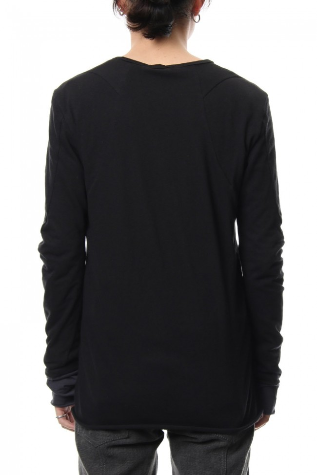Neep silk × cotton jersey long sleeve T shirt
