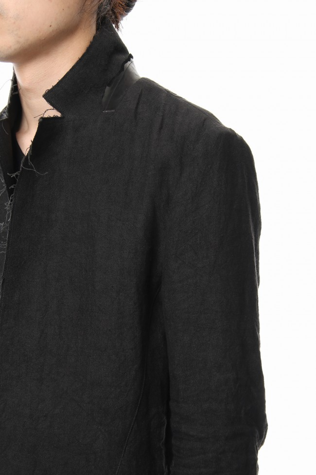 Rough leather x linen tailored Jacket - ST104-0029S