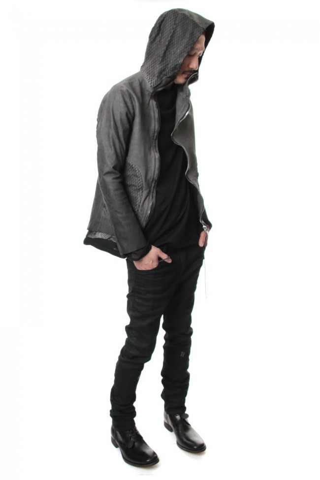 Cold Dyed Horse Leather Parka - ST105-0039S