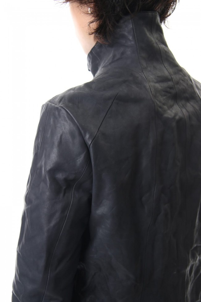 Horse leather High neck jacket - ST105-0059A