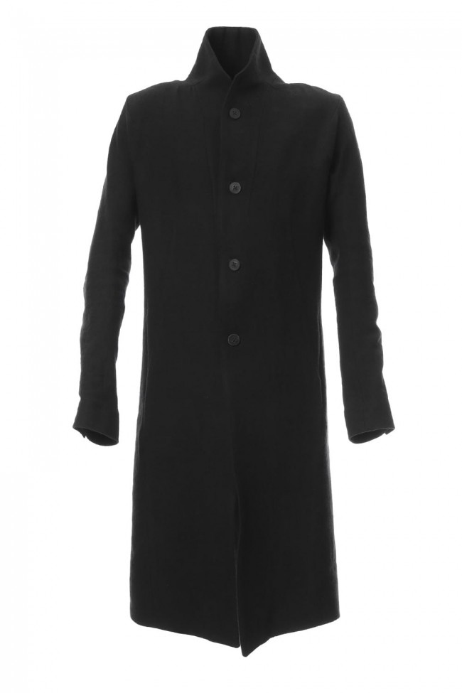Wool x Linen Long Coat - ST106-0029A
