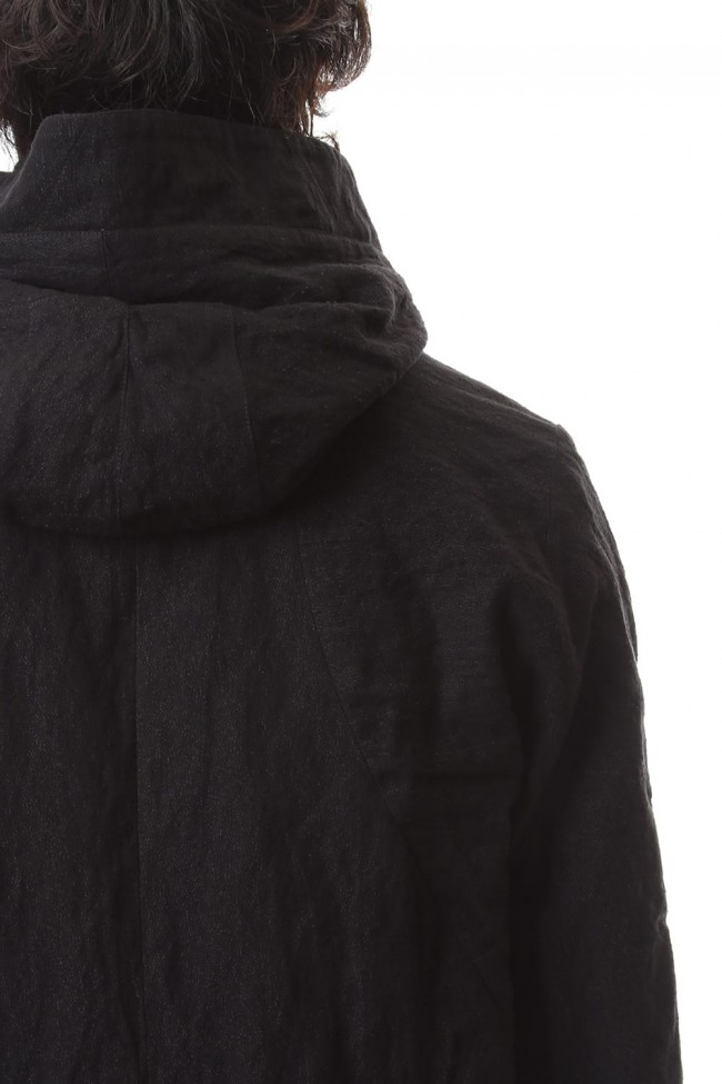 Stainless Steel Mix Silk Cotton Detachable Hood Coat