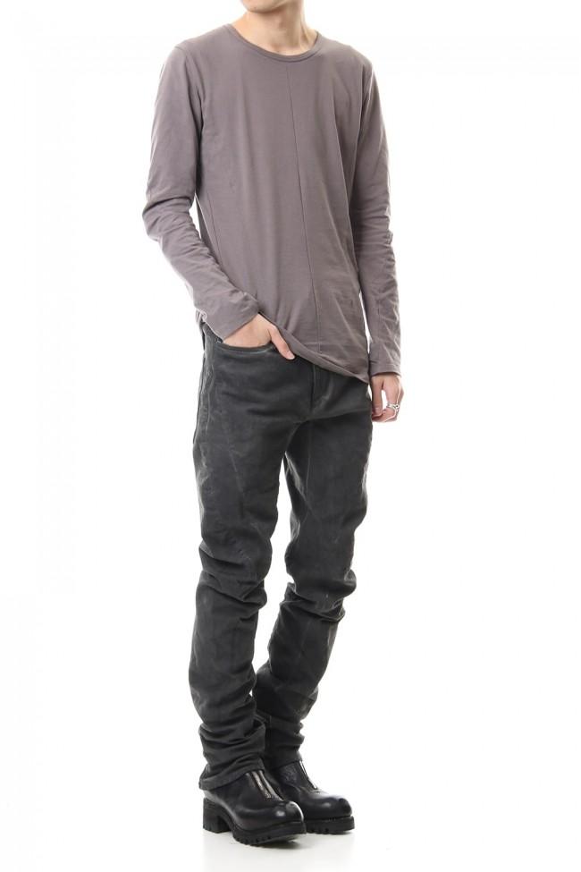 Over Cold Dyed Curve Slim Pants Charcoal