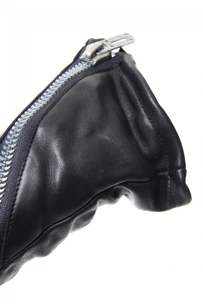 Horse Leather Zip Gloves