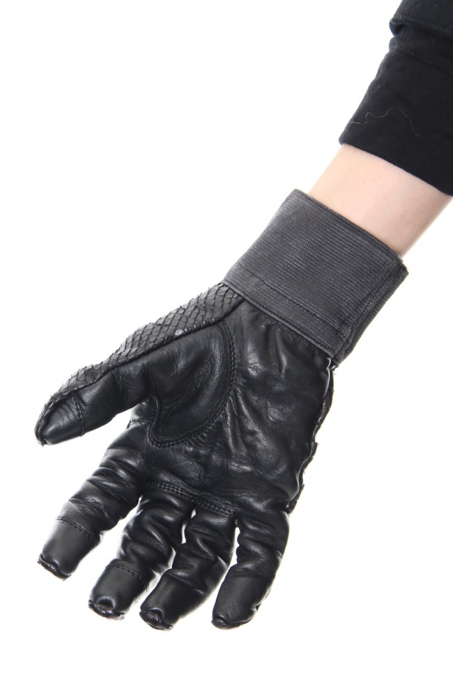 Python×Horse leather glove