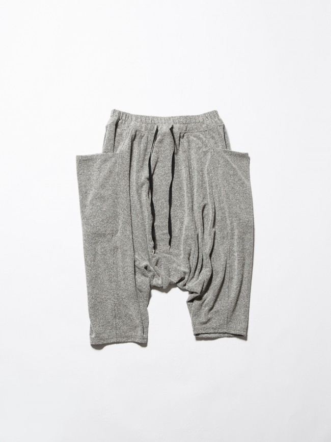 17SS Boucle Pile Shorts  LIGHT GRAY