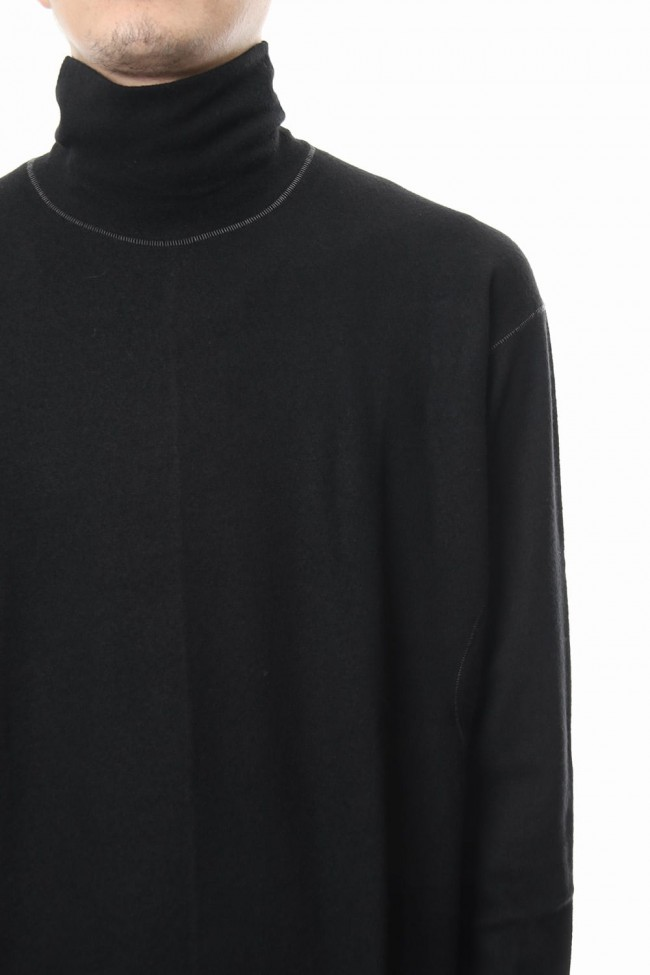 Super 140 Jersey Stitch Turtle Neck
