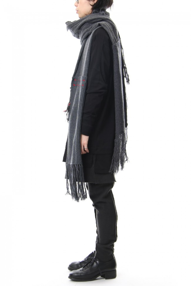 Patchwork Scarf Gray