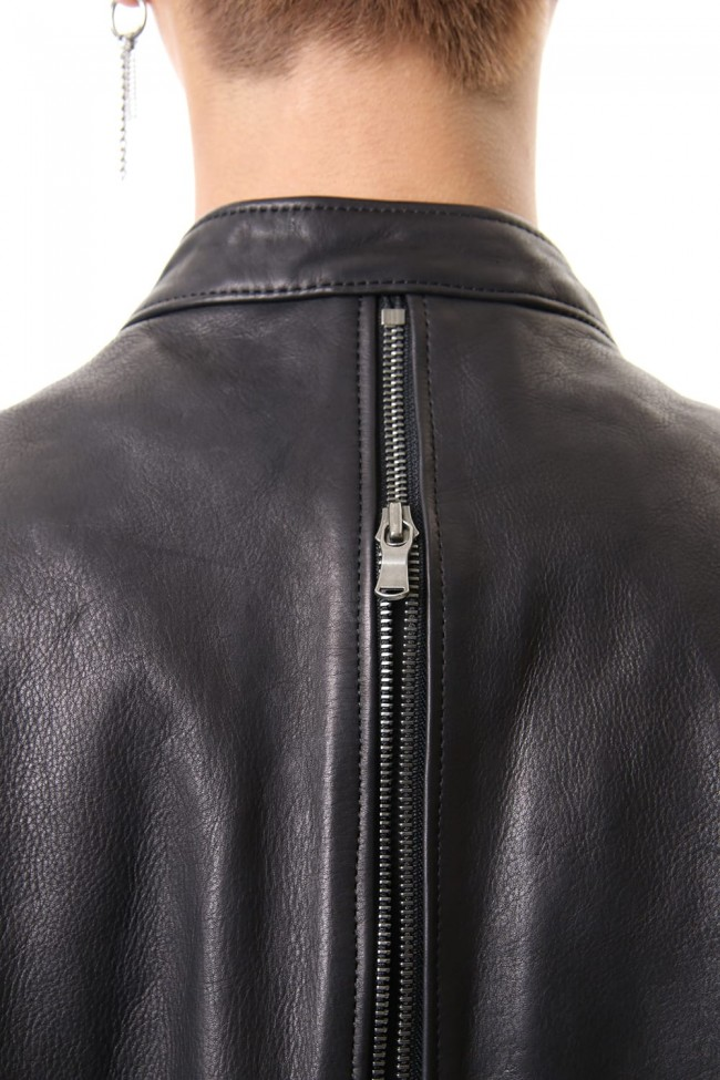 Calf Single Biker Jacket